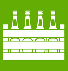 beer wooden box icon green vector image