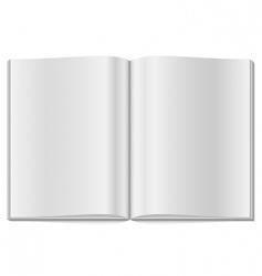 Blank opened magazine vector