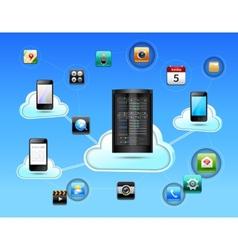 Cloud network concept vector image vector image
