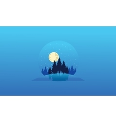 Collection christmas landscape of silhouettes vector