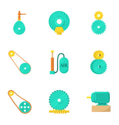 Engineering icons set cartoon style vector