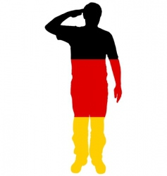 German salute vector