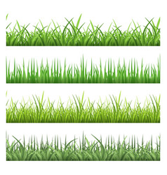 green field grass horizontal seamless vector image