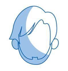 Head man faceless avatar simple image vector