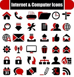 Internet Computers Icons vector image vector image