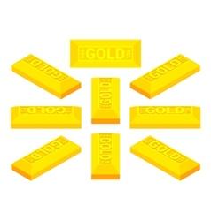 Isometric golden bar vector