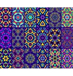 Kaleidoscopic Patterns Set vector image
