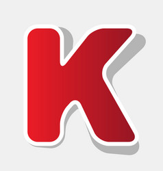 letter k sign design template element new vector image vector image