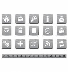 metallic web icons vector image