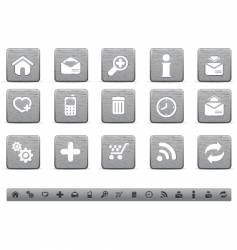 metallic web icons vector image vector image