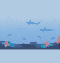 nature underwater design flat vector image