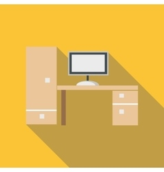 New desk icon flat style vector