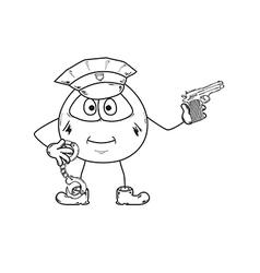 policeman sketch vector image