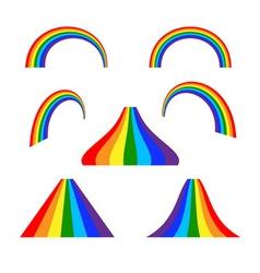 Rainbow icons set flat vector image