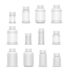 Realistic plastic packaging medicine vector image vector image