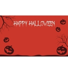 Red Backgrounds Halloween pumpkins vector image vector image
