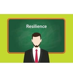 resilience concept with business man vector image