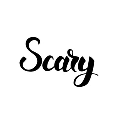 Scary blck lettering vector