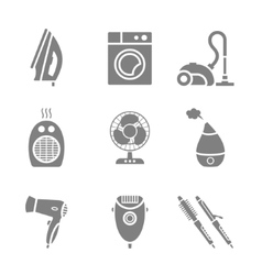 Set of home appliances and electronics icons vector image vector image