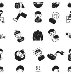 Sick pattern icons in black style big collection vector