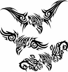 tattoos birds of prey vector image