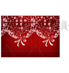 template for Christmas bag vector image vector image