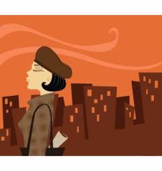 urban lady vector image
