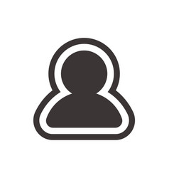 User profile icon in trendy flat style isolated on vector