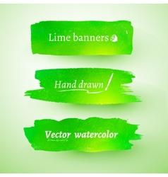 Watercolor banner vector image vector image