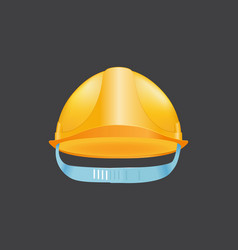yellow helmet safety construction hat builder vector image