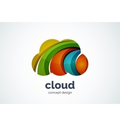 Cloud logo template remote hard drive storage or vector