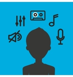 Music entertainment person avatar vector