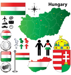 Hungary map vector