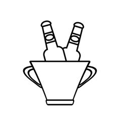 Bucket beers cool ice design outline vector