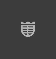 Crown car logo shield logotype vector