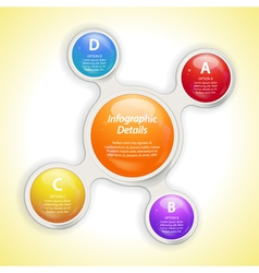 metaball bubble infographic vector image