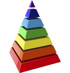Layered pyramids vector vector