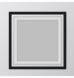 Blank picture frame template set hanging on wall vector