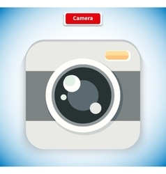 Camera app icon flat style design vector