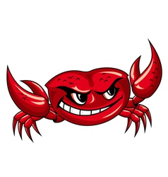 crab mascot design vector image