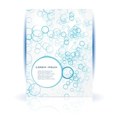 abstract water and circle blue vector image