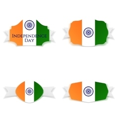 India independence day greeting banners set vector
