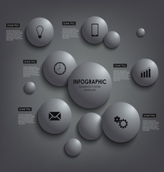 Abstract info graphic round element poster vector image vector image
