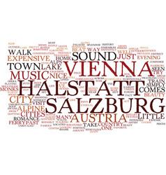 Austria vienna salzburg halstatt and sound of vector