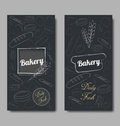Bakery background flat vector