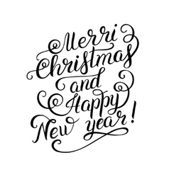 Black and white merry christmas and happy new year vector