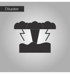 Black and white style icon nature tsunami vector