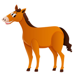 brown horse standing alone vector image