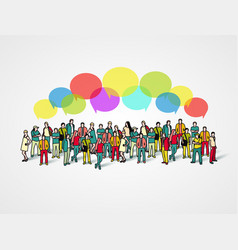 business social and communication concept vector image
