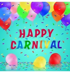 Colorful handmade typography words carnival vector image vector image
